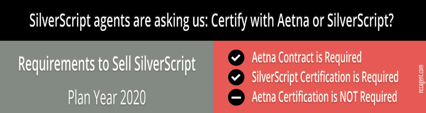 Do you certify with Aetna or SilverScript to sell SilverScript?