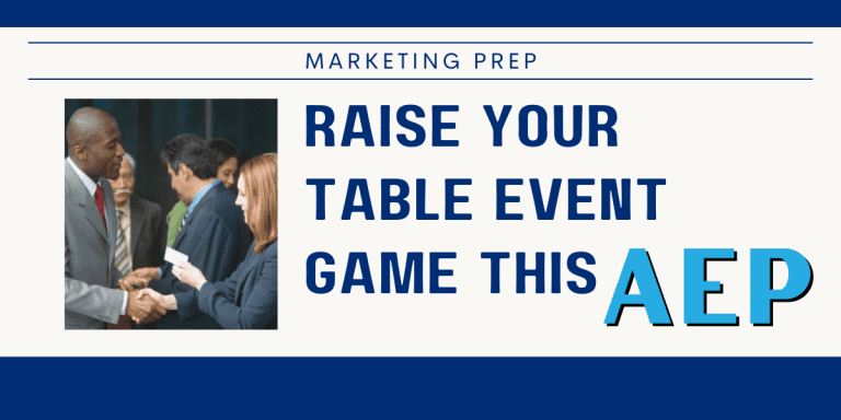 Table Events Medicare Agents